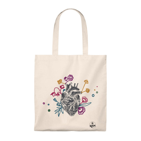 Flower Heart Tote Bag