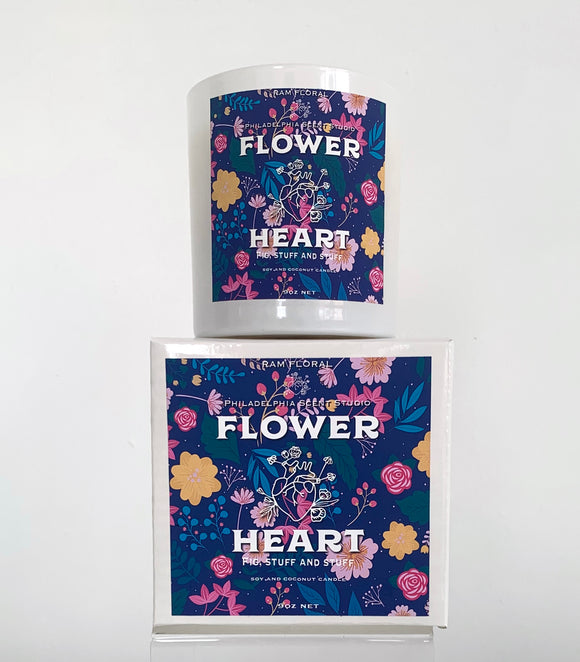 Philadelphia Scents Studio x RAM Floral Flower Heart Candle