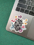 RAM Floral Flower Sticker