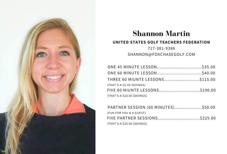 Shannon Martin, USGTF, Golf Lessons at Foxchase Golf Club