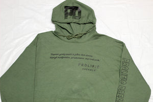 Military Green Quote Hoodie
