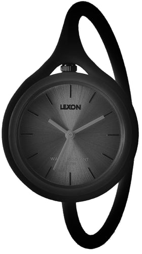 Orologio da polso in silicone Take Time! Lexon nero
