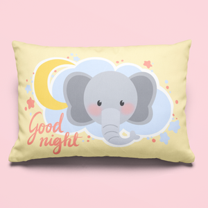 Charlie The Baby Elephant Pillow™️ Good Night Pillow Case