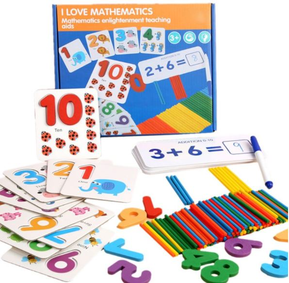 Kids Mathematical Early Education Counting Wooden Stickers