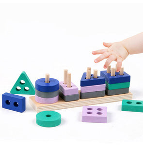 ShapeStack™️ Kids Wooden Stacking Toy