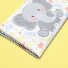 Load image into Gallery viewer, Charlie the Baby Elephant Pillow™️ Night Skies Baby Towel