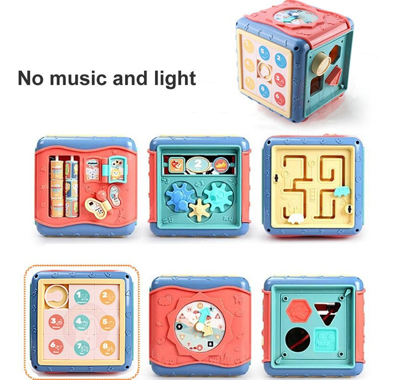 Fun Learning Activity Play Cube Six-Sided Box For Kids