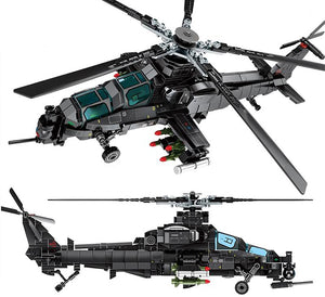 704 pcs Military Helicopter Building Blocks for Kids