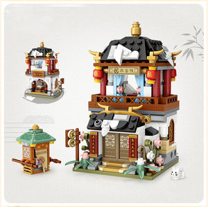 Ancient City Street View Building Blocks Educational Toy
