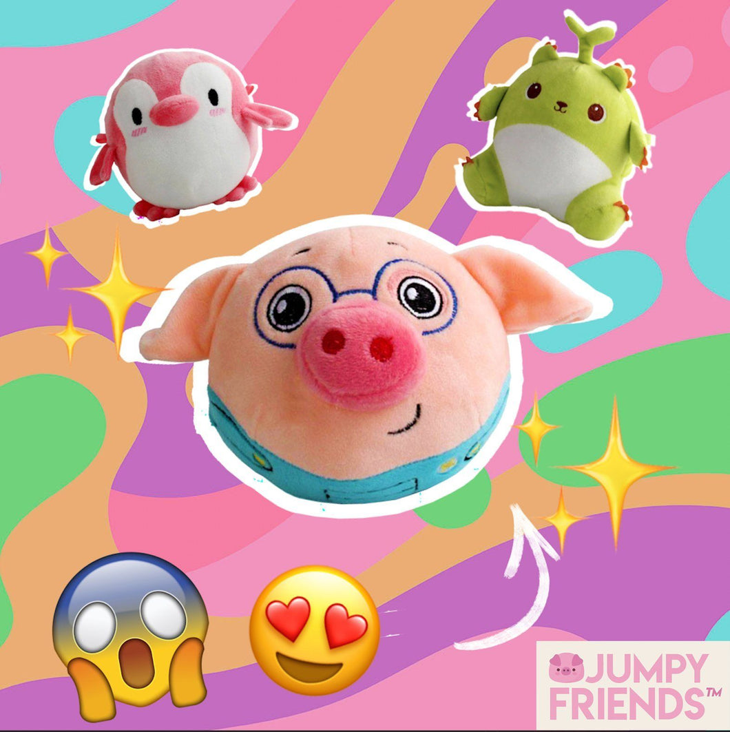 Jumpy Friends™️ Interactive Plush Toy babycalm.co Jumpy Piggy™️
