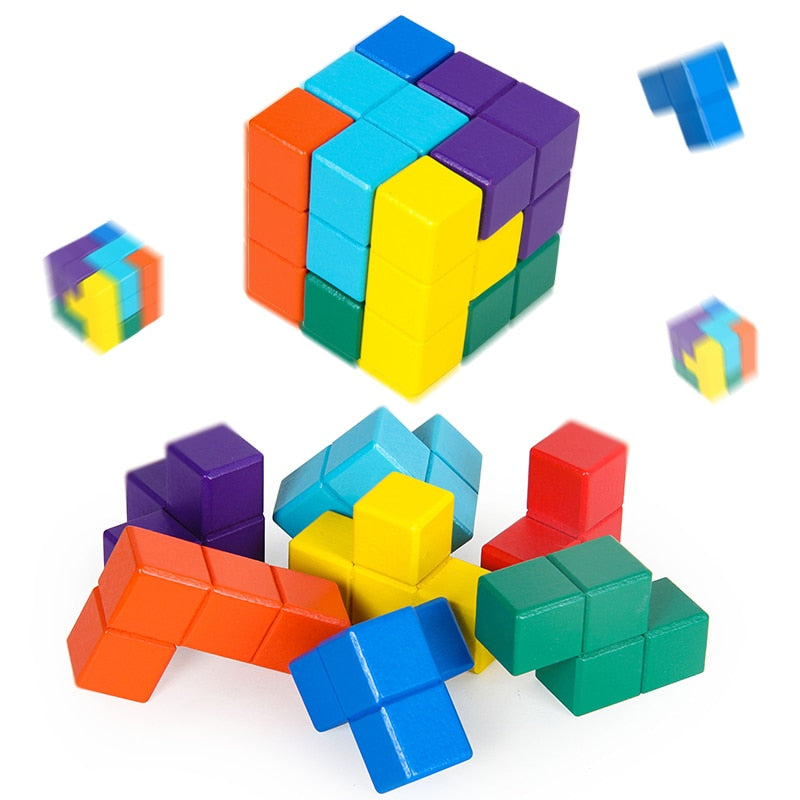 6-sides Tetris Magic Cube Educational Toy