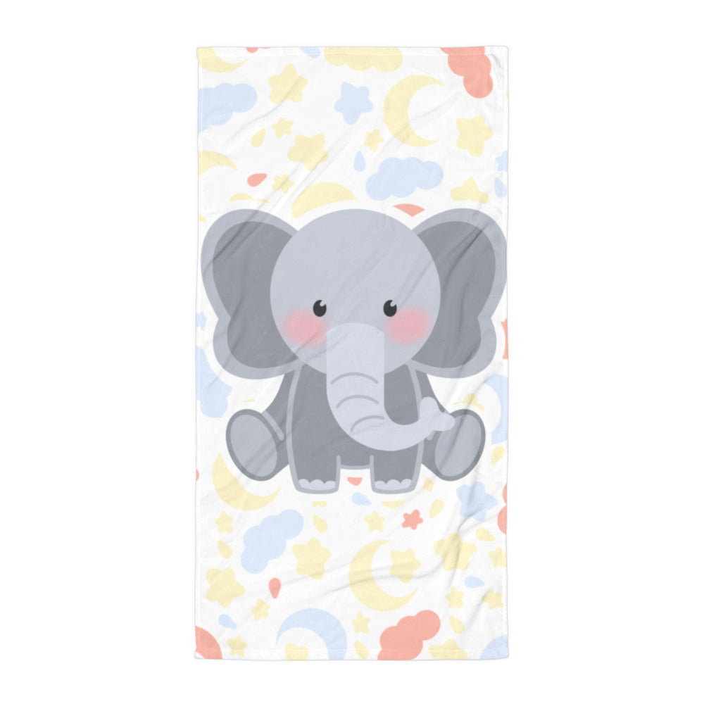 Charlie the Baby Elephant Pillow™️ Night Skies Baby Towel