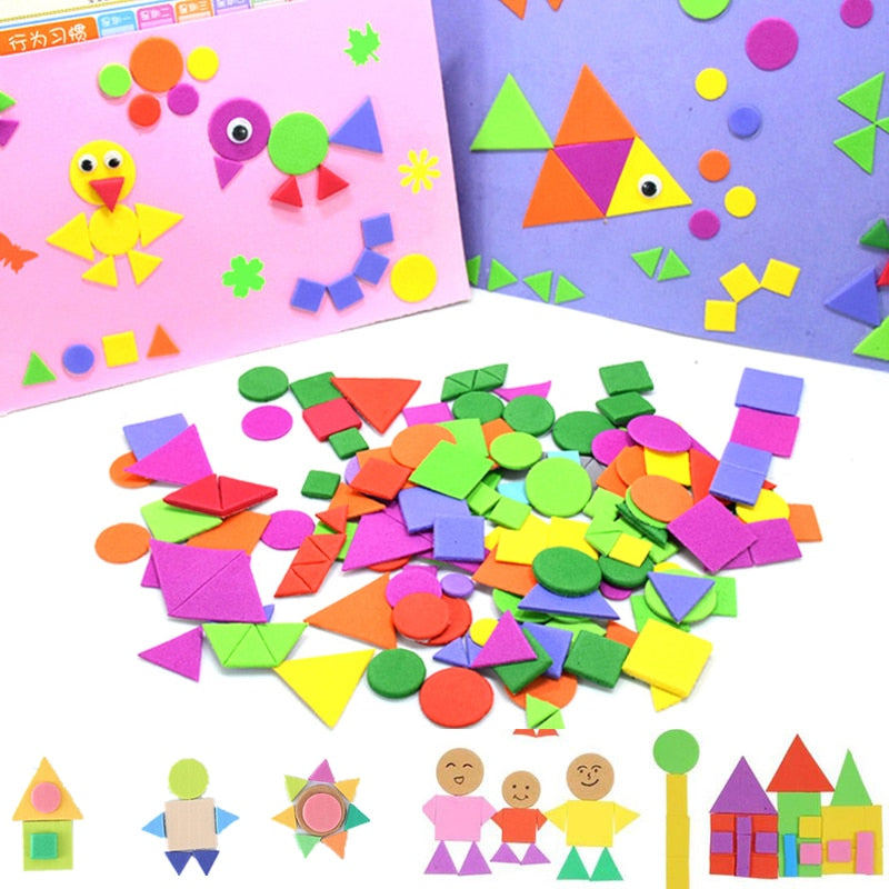 Geometry Puzzle Self-Adhesive Stickers for Kids