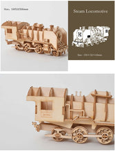 Load image into Gallery viewer, Sailing Ship, Train, Airplane 3D Wooden Assembly Toy for Kids