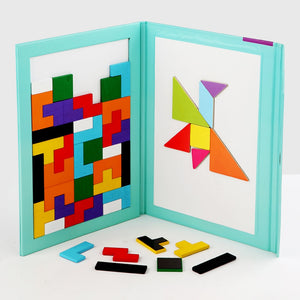 TetrisBook™ Kids Double-Sided Magnetic Tangram Puzzle