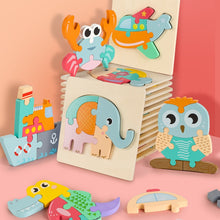 Load image into Gallery viewer, 3D Wooden Puzzle Jigsaw Educational Toy for Kids