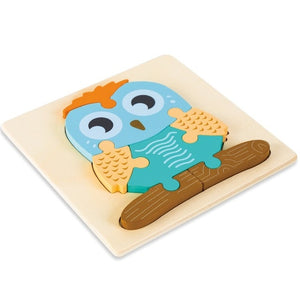 3D Wooden Puzzle Jigsaw Educational Toy for Kids
