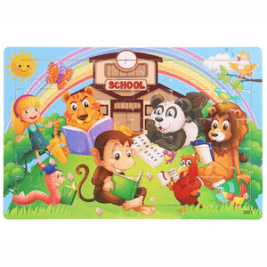 30 pcs Wooden Toy Jigsaw Puzzle for Kids Early Education