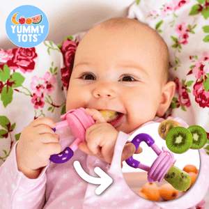 YummyTots™️ Food Pacifier babycalm.co Pink S