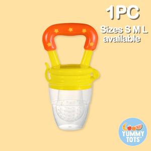 YummyTots™️ Food Pacifier babycalm.co Yellow L