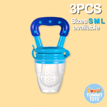 Load image into Gallery viewer, YummyTots™️ Food Pacifier [BUY 1 GET 1 FREE] babycalm.co Blue L (3 Pack)