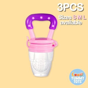 YummyTots™️ Food Pacifier [BUY 1 GET 1 FREE] babycalm.co Pink S (3 Pack)