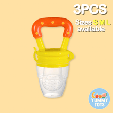 Load image into Gallery viewer, YummyTots™️ Food Pacifier [BUY 1 GET 1 FREE] babycalm.co Yellow L (3 Pack)