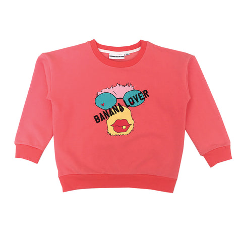 *The Classic Sweat Shirt Banana Lover Monkey Red