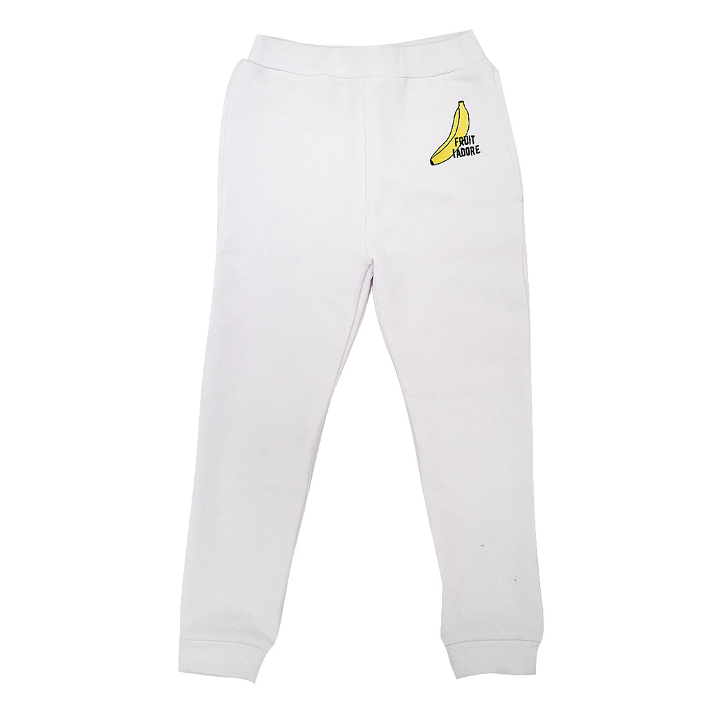 *Track Suit Pant Fruit I Adore Banana White