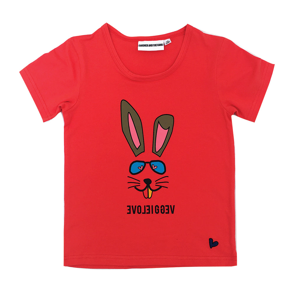 *The Cool Tee Veggie Bunny Red
