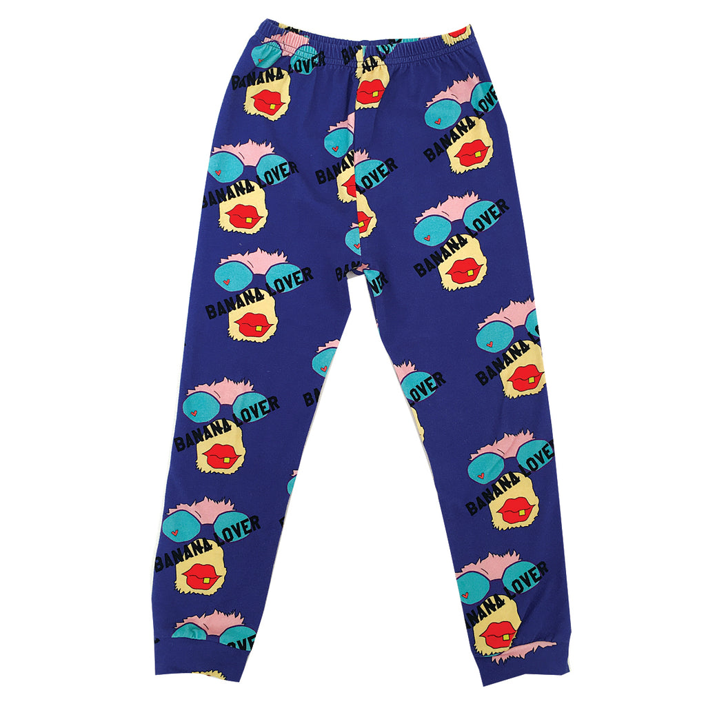 *The Cool Leggings Banana Lover Monkey Blue