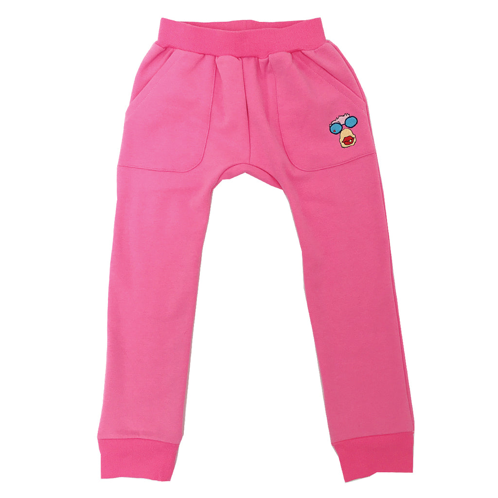 *Track Suit Pant Banana Lover Logo Candy Pink