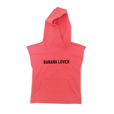 *Sleevless Hoodie Banana Lover Red