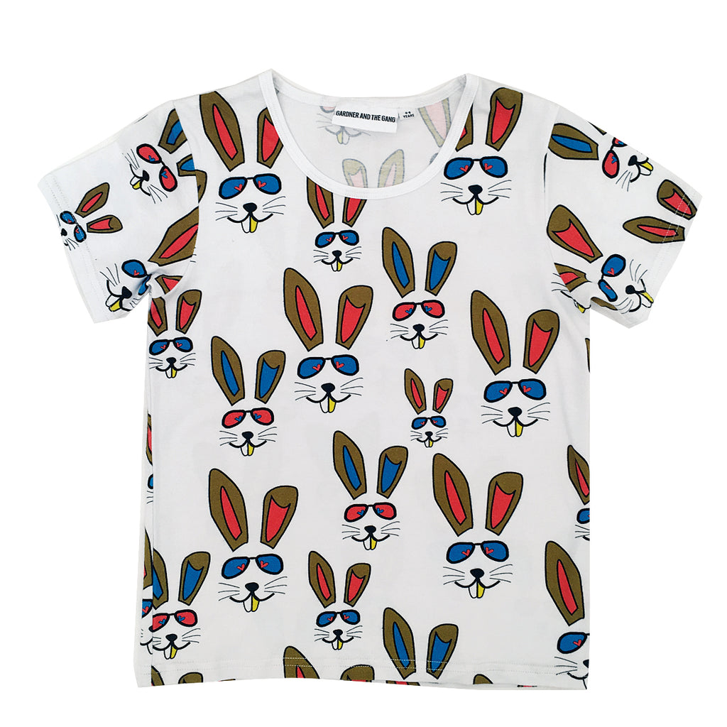 *The Cool Tee Benny Bunny White