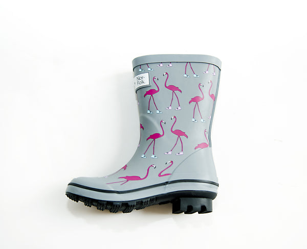 Flamingo boots collab with Nor Folk