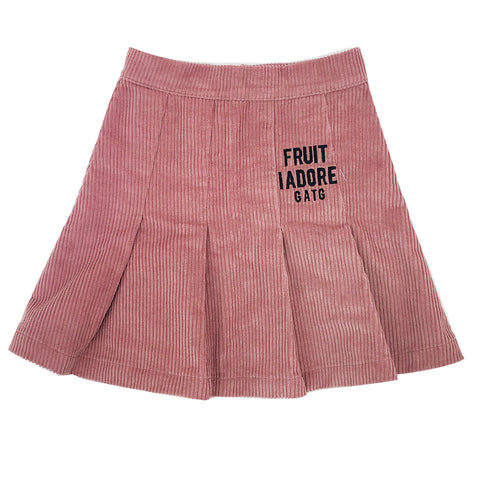 *Corduroy Skirt Dusty Pink