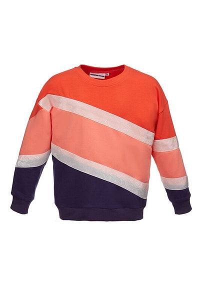 The Classic Sweatshirt Stripery Glitter Red