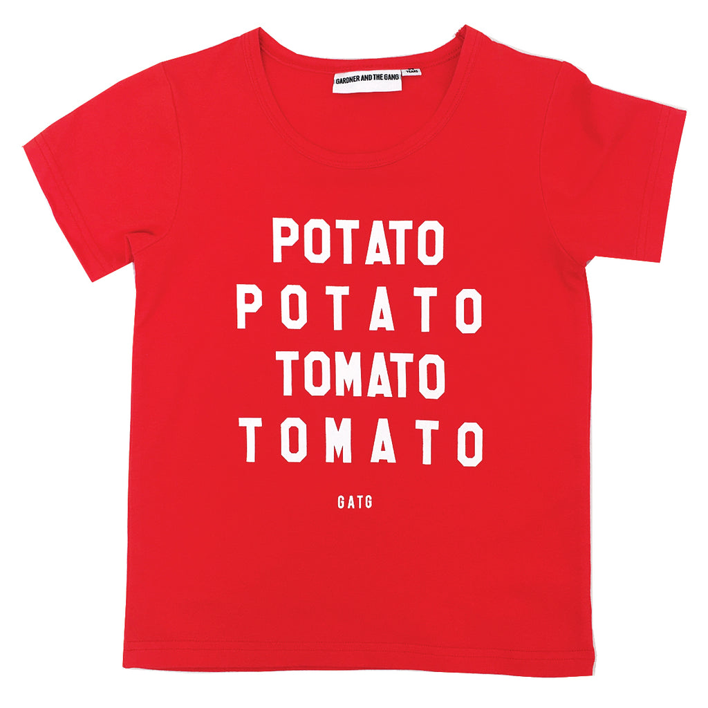 *The Cool Tee Potato Tomato Red