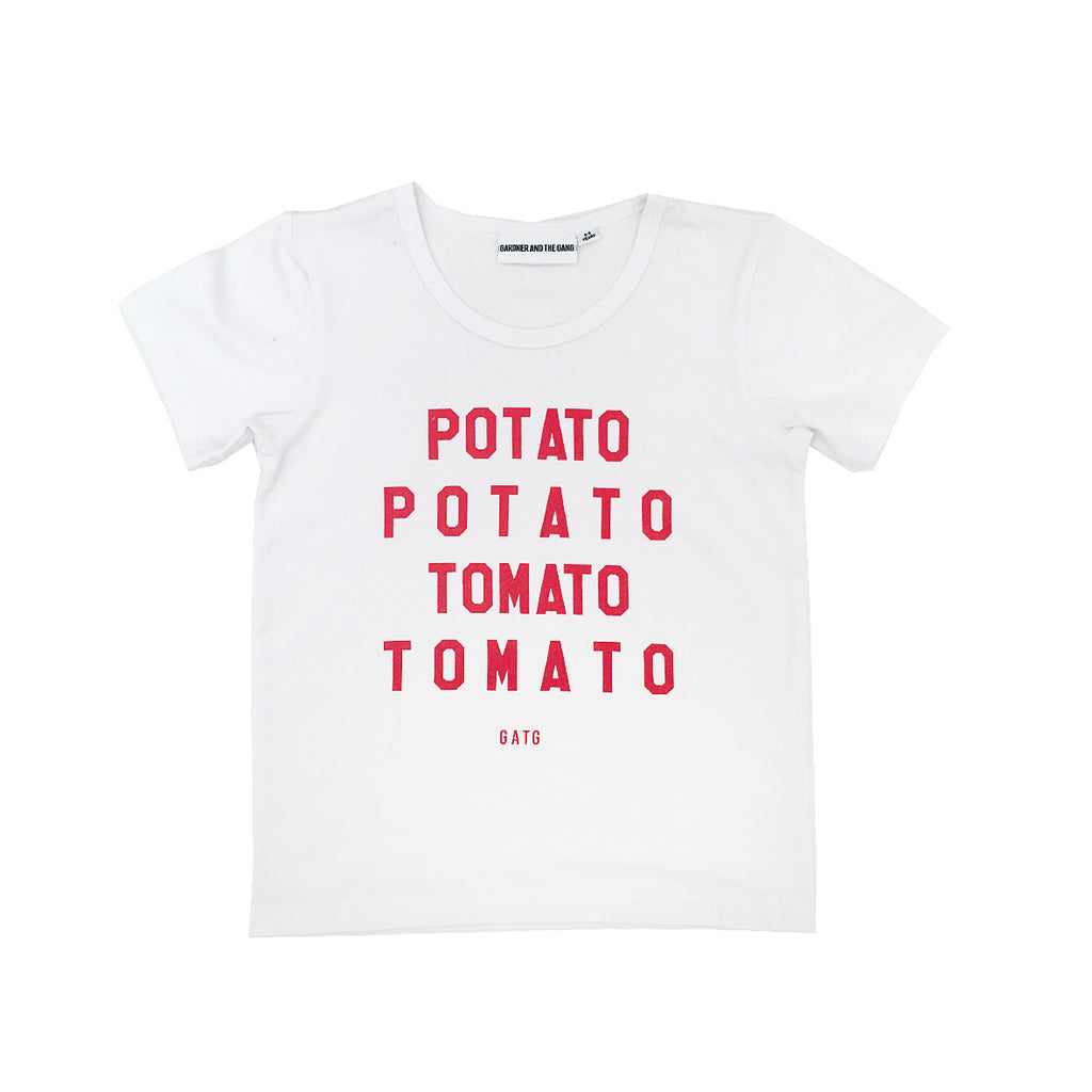 *The Cool Tee Potato Tomato White