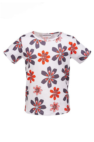 The Cool Tee Flower AOP White