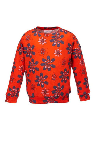 The Classic Sweatshirt Flower AOP Red