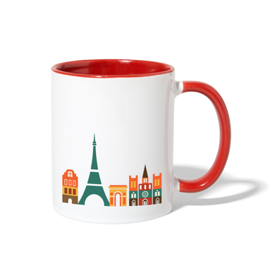 Mug - les Machin à Paris - white/red