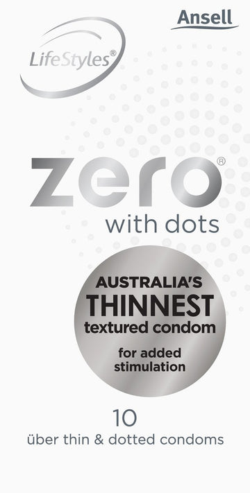 LifeStyles Healthcare Zero Uber Thin with Dots Condoms - joujou.com.au