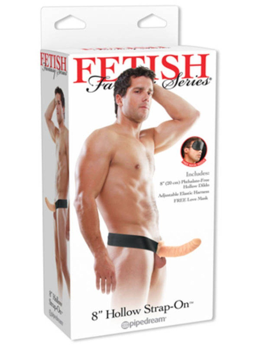Fetish Fantasy 8 in. Hollow Strap On Black