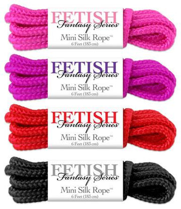 Fetish Fantasy Mini Silk Rope 4 Piece Sampler
