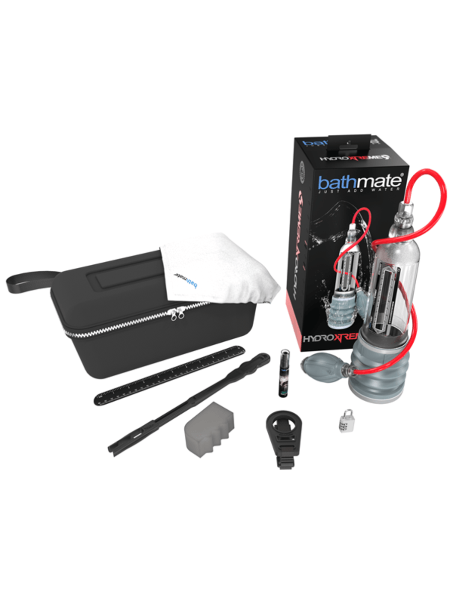 Bathmate Hydroxtreme9 X40 Hydro Pump and Kit Clear