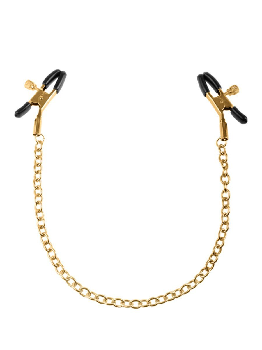 Fetish Fantasy Gold Chain Nipple Clamps Gold