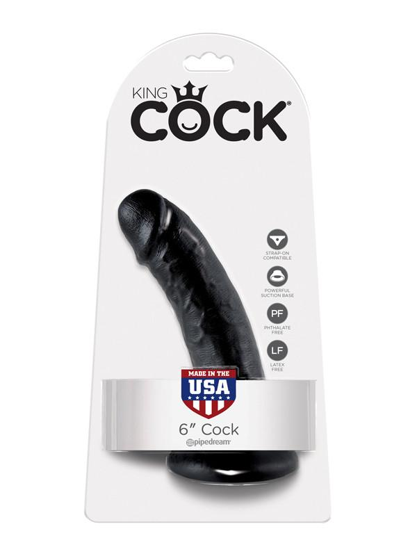 King Cock - 6 in. Cock Black
