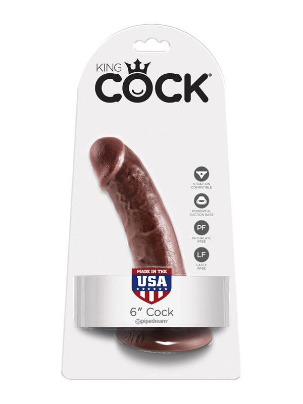 King Cock - 6 in. Cock Brown