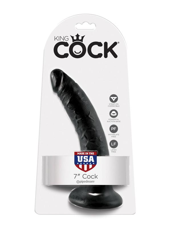 King Cock - 7 in. Cock Black